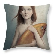 Pet Throw Pillow by Diego Fernandez