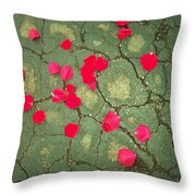 Petals On Asphalt Throw Pillow by Anna Villarreal Garbis
