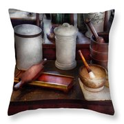 Pharmacist - Equipment for making pills  Throw Pillow by Mike Savad