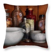 Pharmacist - Medicine For Coughing Throw Pillow by Mike Savad