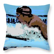 Phelps 2 Throw Pillow by George Pedro
