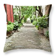 Philadelphia Alley Charleston Pathway Throw Pillow by Dustin K Ryan