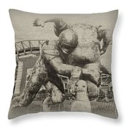 Philadelphia Eagles at the Linc Throw Pillow by Bill Cannon