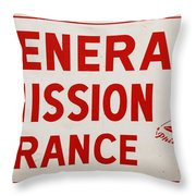 Phillies General Admission Sign from Connie Mack Stadium Throw Pillow by Bill Cannon