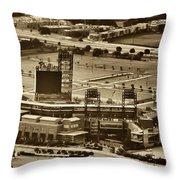 Phillies Stadium - Citizens Bank Park Throw Pillow by Bill Cannon