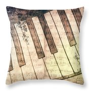 Piano Days Throw Pillow by Jutta Maria Pusl