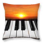 Piano Sunset Throw Pillow by Garry Gay