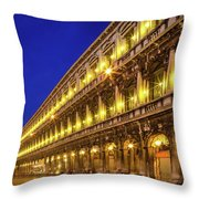 Piazza San Marco By Night Throw Pillow by Inge Johnsson