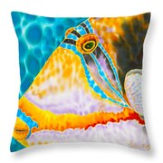 Picasso Trigger Face Throw Pillow by Daniel Jean-Baptiste