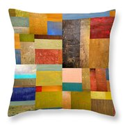 Pieces Project Lll Throw Pillow by Michelle Calkins