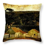Pierce Point Ranch 18 . Texture Throw Pillow by Wingsdomain Art and Photography