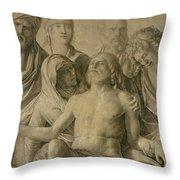 Pieta Throw Pillow by Giovanni Bellini