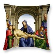 Pieta Throw Pillow by Pietro Perugino