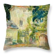 Pigeon Loft At The Chateau Du Mesnil Throw Pillow by Berthe Morisot