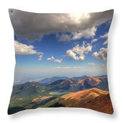 Pikes Peak Summit Throw Pillow by Shawn Everhart