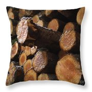 Pine Trees Throw Pillow by Bernard Jaubert