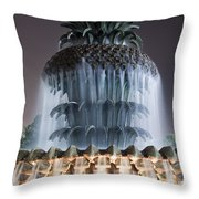 Pineapple Fountain Charleston Sc Throw Pillow by Dustin K Ryan