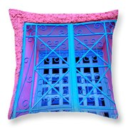 Pink and Blue by Michael Fitzpatrick Throw Pillow by Mexicolors Art Photography