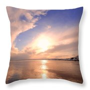 Pink Dawn Throw Pillow by Svetlana Sewell
