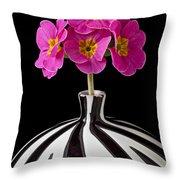 Pink English Primrose Throw Pillow by Garry Gay
