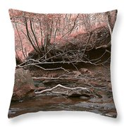 Pink Forest Throw Pillow by Svetlana Sewell