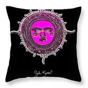 Pink Jewel Mohawk Sun Throw Pillow by John Keaton