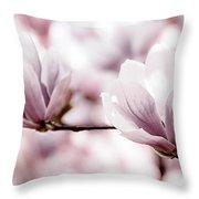 Pink Magnolia Throw Pillow by Elena Elisseeva