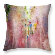 Pink Mist Throw Pillow by Mary Zimmerman
