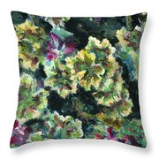 Pink Pelargonium Throw Pillow by Alexandra Cook