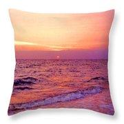 Pink Sunrise Throw Pillow by Kristin Elmquist