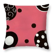 Pink Swirly Curly Throw Pillow by Katie Slaby