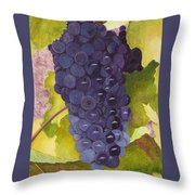 Pinot Noir Ready For Harvest Throw Pillow by Mike Robles