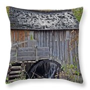 Pioneer Water Mill Throw Pillow by DigiArt Diaries by Vicky B Fuller