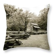 Pioneers Cabin Throw Pillow by Scott Pellegrin