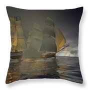 Pirate Attack Throw Pillow by Carol and Mike Werner