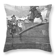 Pirates: Walking The Plank Throw Pillow by Granger