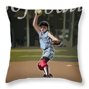 Pitcher Throw Pillow by Kelley King