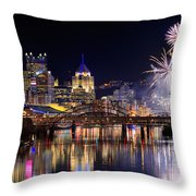 Pittsburgh 1  Throw Pillow by Emmanuel Panagiotakis