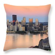 Pittsburgh 16 Throw Pillow by Emmanuel Panagiotakis