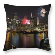 Pittsburgh 3 Throw Pillow by Emmanuel Panagiotakis