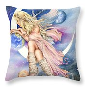 Planets Of The Universe Throw Pillow by Johanna Pieterman