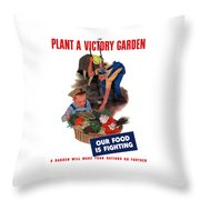 Plant A Victory Garden  Throw Pillow by War Is Hell Store
