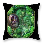 Plant Cell Throw Pillow by Russell Kightley