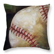 Play Ball Throw Pillow by Kristine Kainer