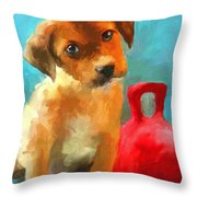 Play With Me Throw Pillow by Jai Johnson
