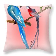 Playing Footsie Throw Pillow by Miki De Goodaboom