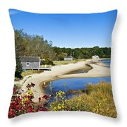 Pleasant Bay Throw Pillow by John Greim