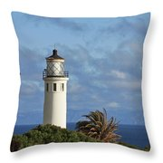 Point Vicente Lighthouse on the cliffs of Palos Verdes California Throw Pillow by Christine Till