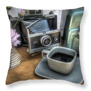 Polaroid Perceptions Throw Pillow by Jane Linders