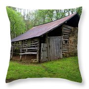 Ponca Barn Throw Pillow by Marty Koch
